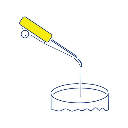 Icon of Fishing winter tackle . Thin line design. Vector illustration. Illustration