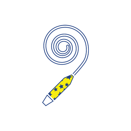 Party whistle icon. Thin line design. Vector illustration.