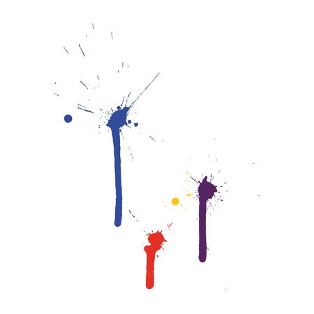Grunge pattern. Color on white.  Vector illustration.