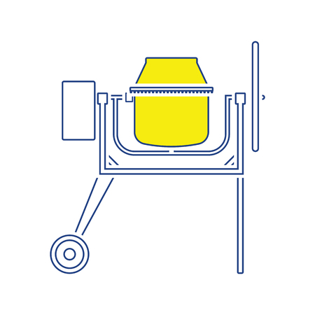 Icon of Concrete mixer. Thin line design. Vector illustration. Stock Illustratie
