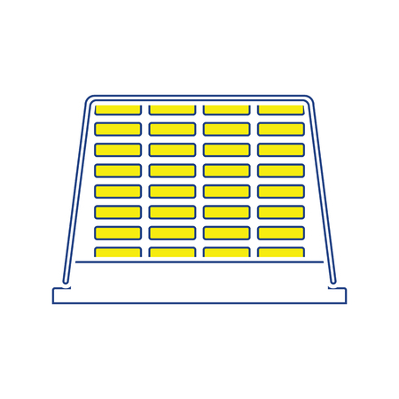 Icon of construction pallet . Thin line design. Vector illustration. Stock Illustratie
