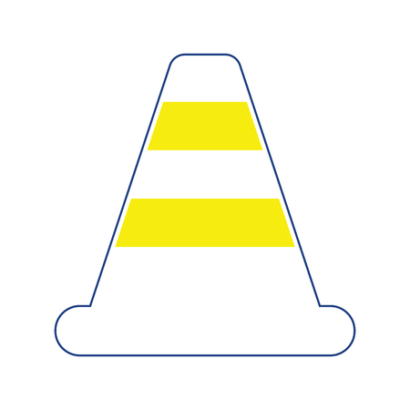 Icon of Traffic cone. Thin line design. Vector illustration.