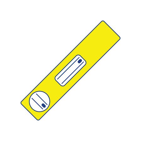 Icon of construction level . Thin line design. Vector illustration. Illustration