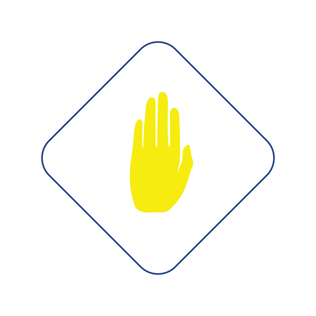 Icon of Warning hand. Thin line design. Vector illustration. Stock Illustratie