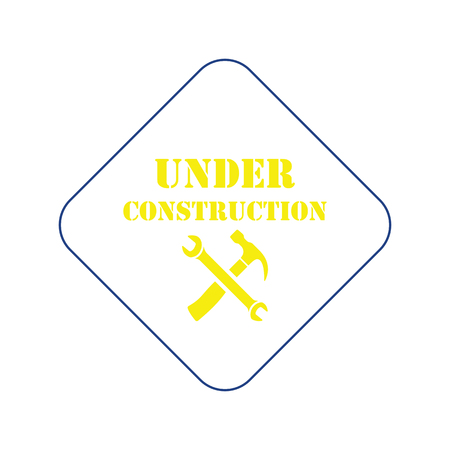Icon of Under construction. Thin line design. Vector illustration. Stock Illustratie