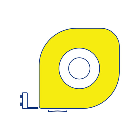 Icon of constriction tape measure. Thin line design. Vector illustration.