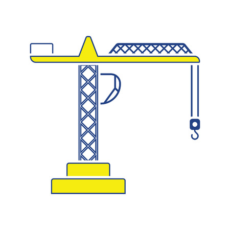 Icon of crane. Thin line design. Vector illustration. Stock Illustratie