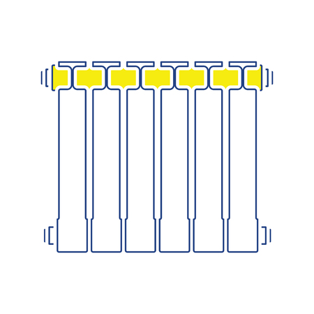 Icon of Radiator. Thin line design. Vector illustration.