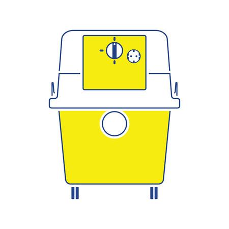 Icon of vacuum cleaner. Thin line design. Vector illustration.