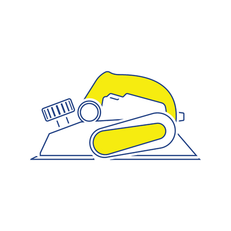 Icon of electric planer. Thin line design. Vector illustration.
