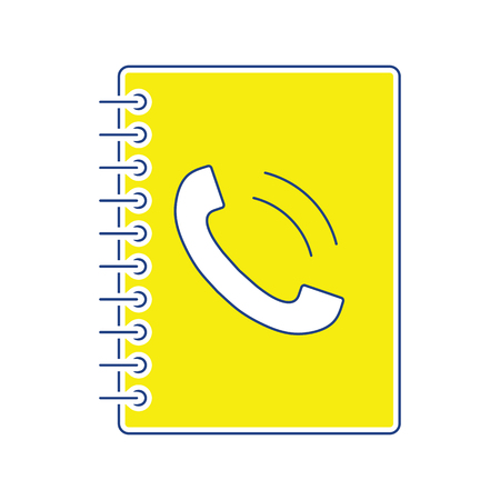 Phone book icon. Thin line design. Vector illustration.