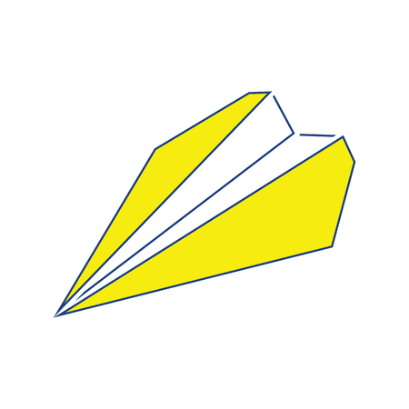 Paper plane icon. Thin line design. Vector illustration. Stock Illustratie