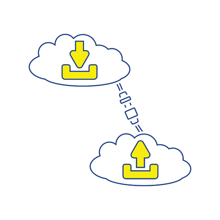 Cloud connection icon. Thin line design. Vector illustration.