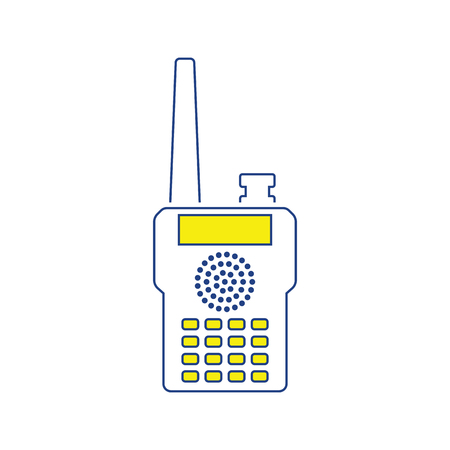 Portable radio icon. Thin line design. Vector illustration.