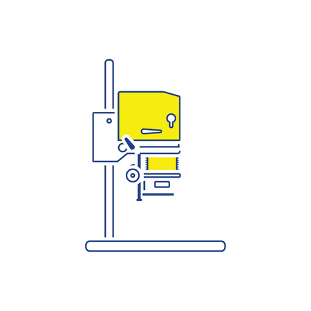 Icon of photo enlarger. Thin line design. Vector illustration. Çizim