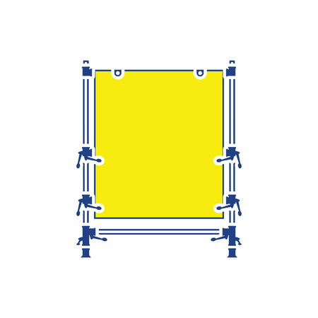 Icon of table for object photography. Thin line design. Vector illustration.