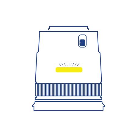 Icon of photo camera wide lens. Thin line design. Vector illustration.