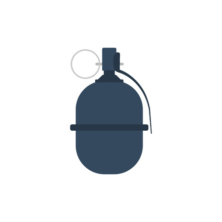 Attack grenade icon. Flat color design. Vector illustration.