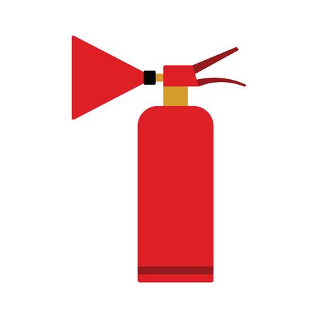 Extinguisher icon. Flat color design. Vector illustration. Banque d'images - 124743357