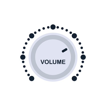 Volume control icon. Flat color design. Vector illustration. Ilustração