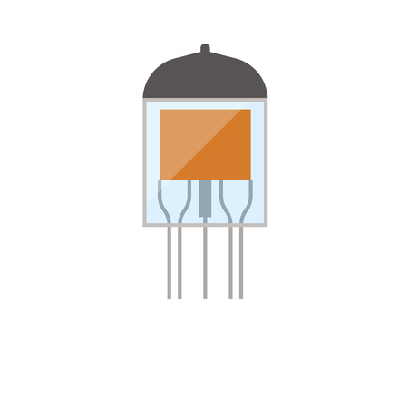 Electronic vacuum tube icon. Flat color design. Vector illustration.