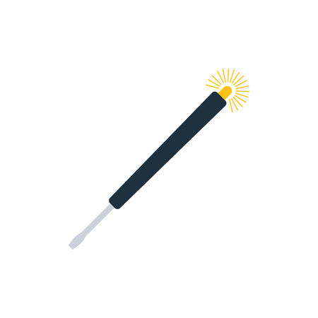 Electricity test screwdriver icon. Flat color design. Vector illustration. Illustration