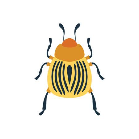 Colorado beetle icon. Flat color design. Vector illustration.