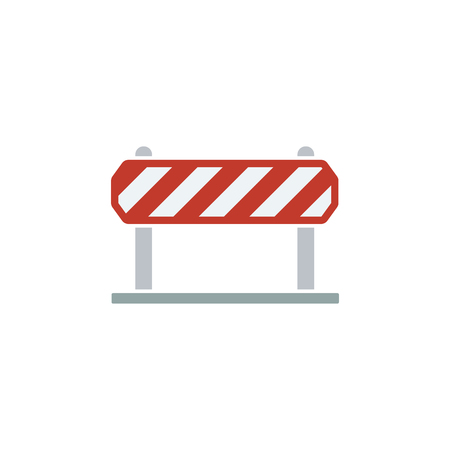 Icon of construction fence. Flat design. Vector illustration.