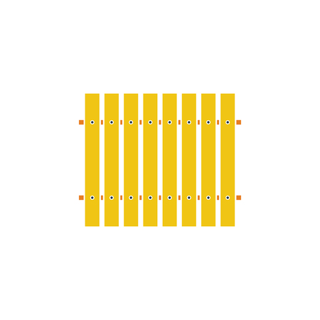 Icon of Construction fence . Flat design. Vector illustration. Vectores