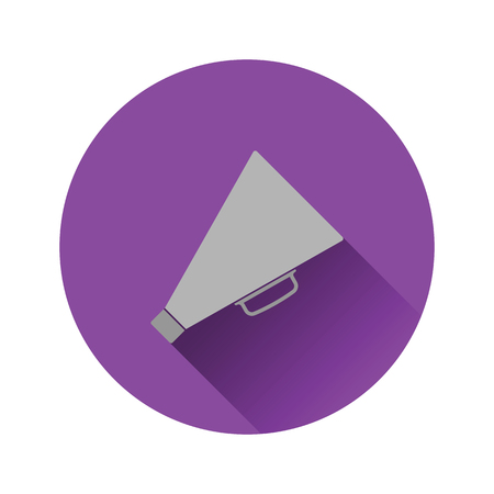 Director megaphone icon on gray background, round shadow. Vector illustration.