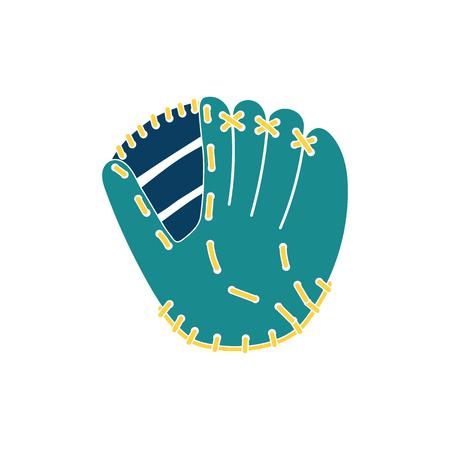 Baseball glove icon. Flat color design. Vector illustration.