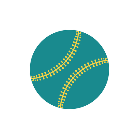 Baseball ball icon. Flat color design. Vector illustration.