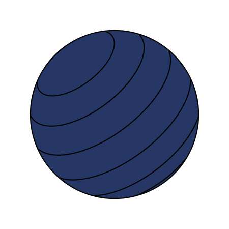 Flat design icon of Fitness rubber ball in ui colors. Vector illustration.