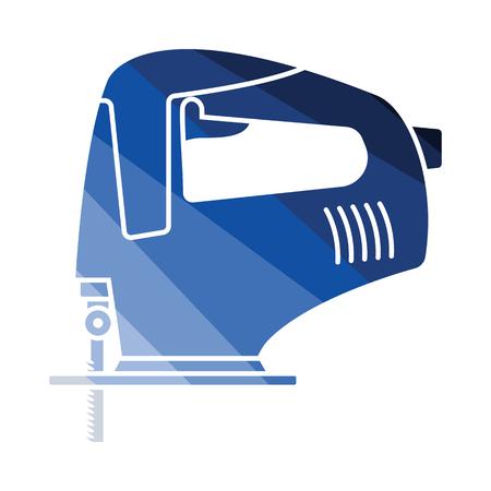 Hammer icon. Flat color design. Vector illustration.