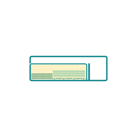 Baseball reserve bench icon. Flat color design. Vector illustration.