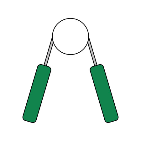 Flat design icon of Hands expander in ui colors. Vector illustration.
