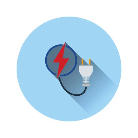 Icône de prise électrique. Conception de couleur plate. Illustration vectorielle. Vecteurs