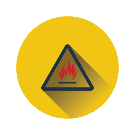 Flammable icon. Flat color design. Vector illustration. Ilustrace
