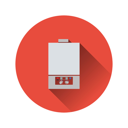 Gas boiler icon. Flat color design. Vector illustration.