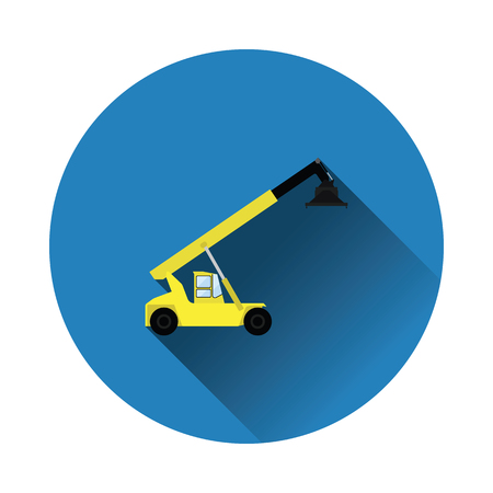 Port loader icon. Flat color with shadow design. Vector illustration.