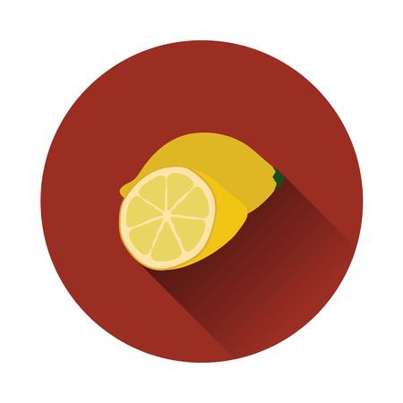 Flat design icon of Lemon in ui colors. Vector illustration. Vettoriali