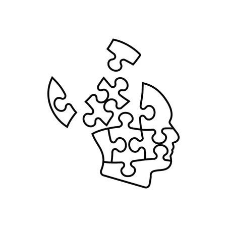 Solution Icon. Thin line design. Vector illustration.