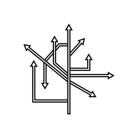 Direction Arrows Icon. Thin line design. Vector illustration.