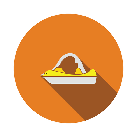 Catamaran icon. Flat color design. Vector illustration.