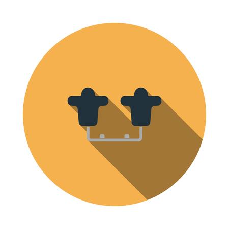 American football  tackling sled icon. Flat color design. Vector illustration. Illustration