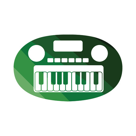 Synthesizer toy icon. Flat color design. Vector illustration. Illustration