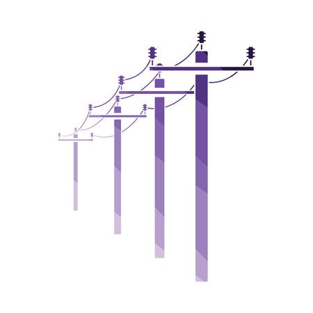 Icône de ligne haute tension. Conception de couleur plate. Illustration vectorielle. Vecteurs