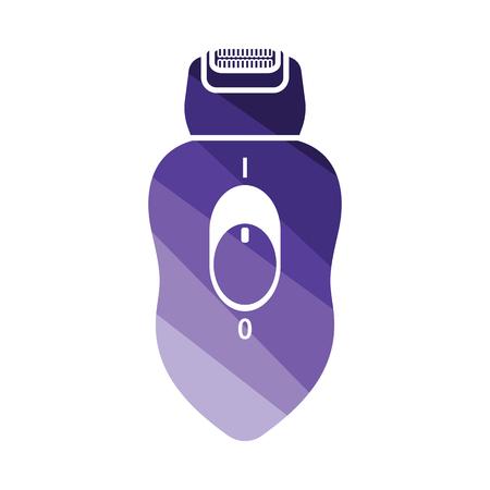 Depilator icon. Flat color design. Vector illustration.