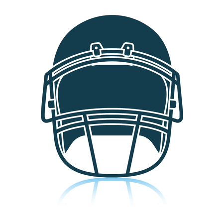 American football helmet icon. Shadow reflection design. Vector illustration.  イラスト・ベクター素材