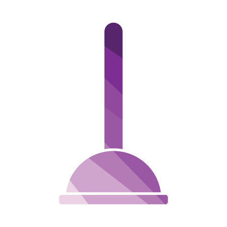 Plunger icon. Flat color design. Vector illustration. 向量圖像